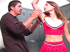 Amber Rayne gives a handjob and gets..
