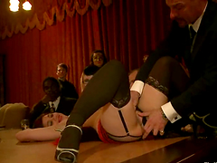 Kinky bitches get humiliated at..