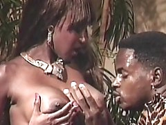 Retro ebony having rough sex