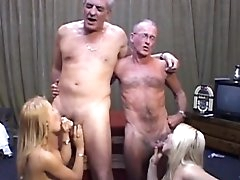 Young blondes pleasing old studs