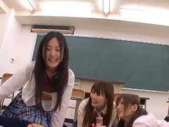Horny Japanese Students Play With A..