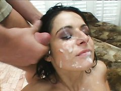 sexy Brunette Gets Double Penetrated..