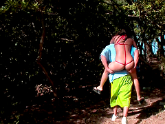 Outdoors sex with the hot Latina..