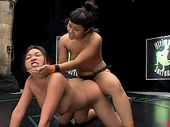 Two Asian martial artists make hot..