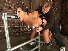 Taila MOnet is getting hogtied and..