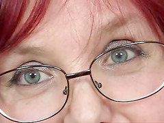 Mature Redhead Slut With Glasses Rubs..