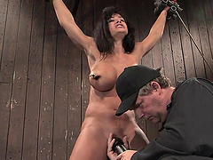 Stunning Lisa Ann gets bounded and..