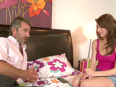 Lexi Bloom seduces a grey-haired man..