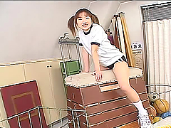 Gorgeous Japanese School Girl Giving a..