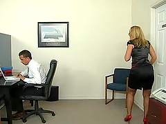 Monster Cock Threesome In The Office