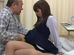 Girl in school uniform gets seduced..