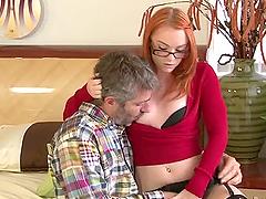 Hot redhead slut Dani Jensen gets..
