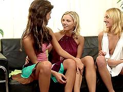 Three Lesbian Chicks Getting Freaky.