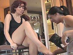 Lesbian Scene With Rita As She Tries..