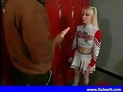 Slutty Blonde Anal Cheerleader Goes..