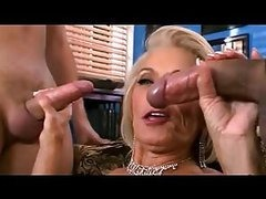 Busty Blonde Granny Gets Fucked and..