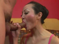Cute Asian MILF With Big Tits Gets It..
