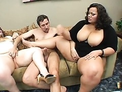 Cum Swapping BBW Queens in Interracial..