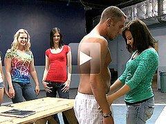 Slutty Brunette Teen Gives an Outdoor..