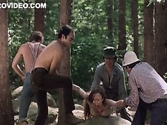 Four Horny Lumberjacks Abuse Camille..