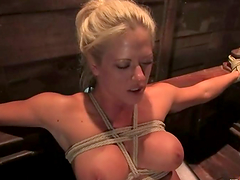 Holly Heart gets tied up and fisted..