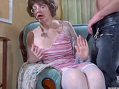 Horny MILF Fucks a Tough Guy