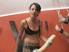Girl Fucks Her Guy With a Huge Strapon