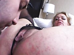 Mature Blonde Swallows A Fat Cock..