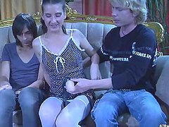 A Couple Dominate Thier Transvestite..