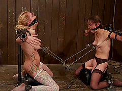 Two kinky chicks get humiliated and..