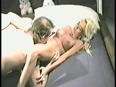 Horny blonde sucks and fucks a big..