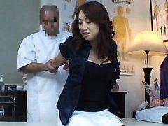Massaging a Hot Asian MILF