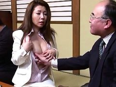 Sakiko Mihara's tits get touched by..