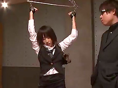 Japanese sex slave is forced to suck..
