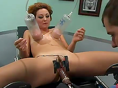 Horny MILF gets toyed deep at a..