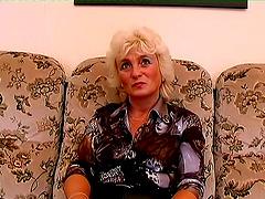 Solo Scene With Horny Granny Rubbing..