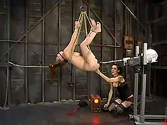 Boob Torture and Rope Bondage Action..