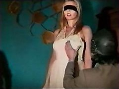 Blindfolded Bride Gets Whipped and Toyed