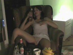 Drunk Brunette Teen With Juicy Natural..