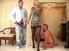Stunning Blonde Wife Forces Her..