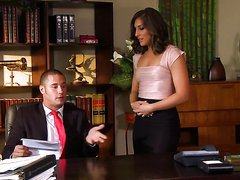 Gorgeous Secretary Mischa Brooks Gets..