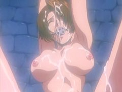 Hentai prisoner girl in chains gets..