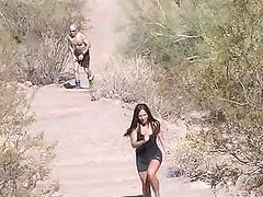Beautiful Brunettes Reality Outdoor Masturbation!