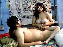 Savita shows her nice wanking skills