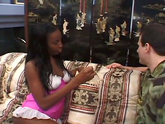 Ebony Whore Get Her Butt Stretched in..
