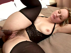 Blonde mom Magda sucks a BBC after..