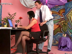 Office Whore Renata Black Fucking and..