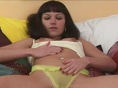 Super Sexy Brunette Solo Teen has Tiny..
