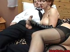 Kinky Dominant Mature Sucks Cock and..