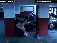 Sexy Brunette gets Banged in the Garage